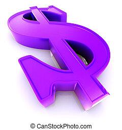symbole, dollar, nous, 3d