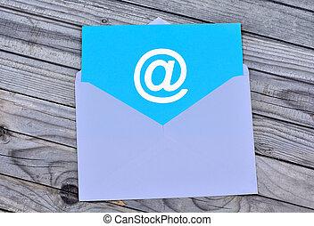 symbole, enveloppe, blanc, email