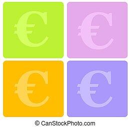 symbole, euro