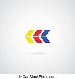 symbole, flèche