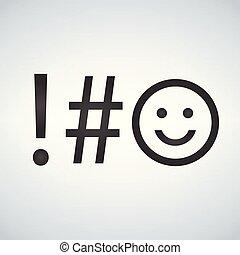 symbole, moderne, isolé, illustration, arrière-plan., vecteur, clã©, clavier, icon.