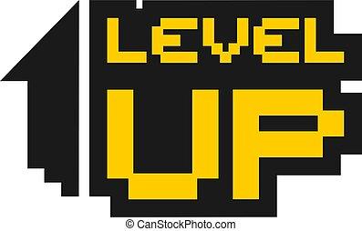 symbole, niveau, haut