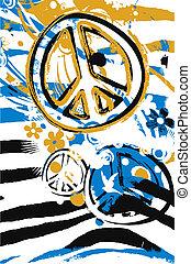 symbole, paix, illustration, signe