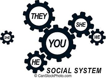 symbole., personne, société, vecteur, relations, social, conceptuel, interaction., unique, logo