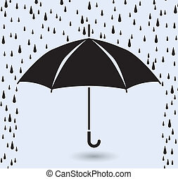 symbole, pluie, vecteur, protection, parapluie