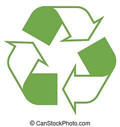 symbole, recyclage, vert