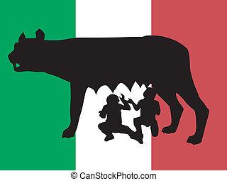 symbole, rome, silhouette