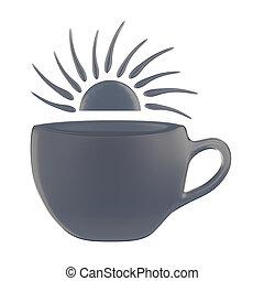 symbole, tasse, conceptuel, conception, café
