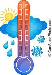 symbole, température, changement
