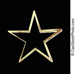 symbole, vacances, étoile, or