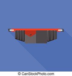 symbole., vecteur, graphisme, illustration., ceinture, outillage, toolbag, stockage