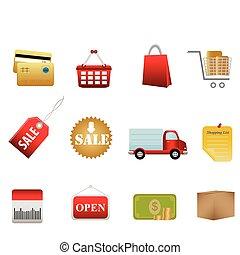 symboles, achats, icônes