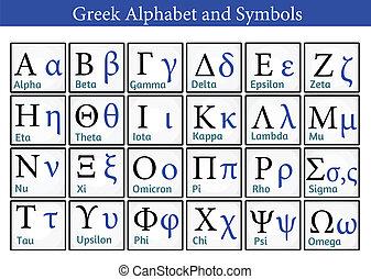 symboles, alphabet grec