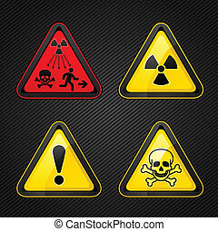 symboles, avertissement, ensemble, danger, attention