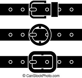 symboles, boucle, vecteur, ceinture noire