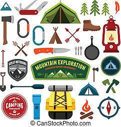 symboles, camping