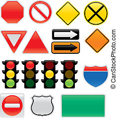 symboles, carte, circulation signe