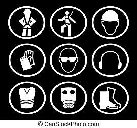 symboles, construction, sécurité