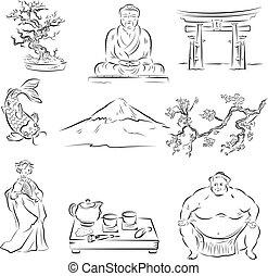 symboles, culture, japonaise