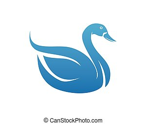 symboles, cygne, gabarit, logo, animaux, icônes