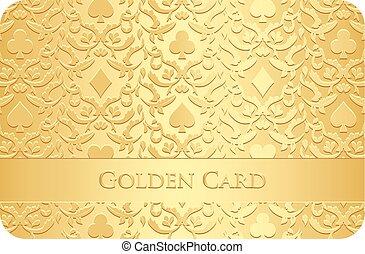 symboles, doré, ornement, carte
