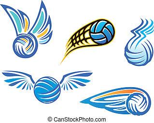 symboles, emblèmes, volley-ball