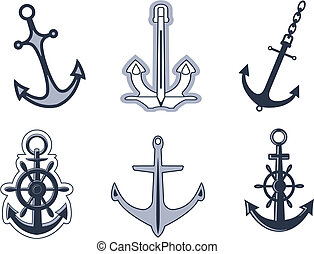 symboles, ensemble, ancre