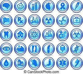 symboles, ensemble, icônes, monde médical, collection, 2, healthcare