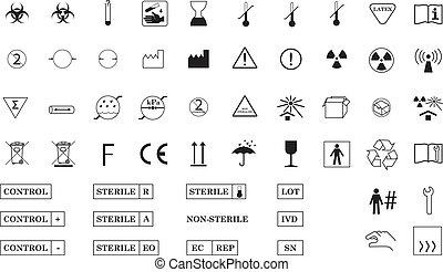symboles, international, monde médical