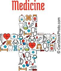 symboles, médecine, monde médical, forme colère