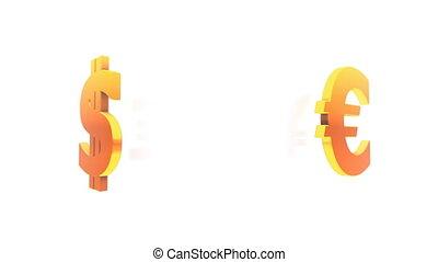 symboles, monnaie, (loop)