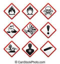 symboles, nouveau, sécurité