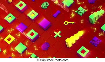 """symboles, résumé, """"sparkling, signs"""", techno"""