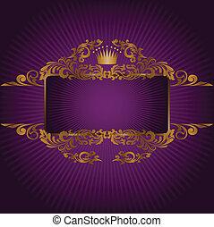 symboles, royal, bannière
