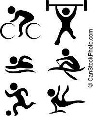 symboles, sports, vecteur