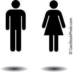 symboles, toilette