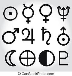 symboles, zodiaque, astrologie