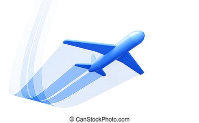 symbolique, avion, fermé, prendre