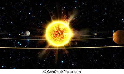 système, solaire, la terre