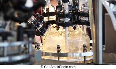 système, verre, réacteur, pilote, fondamental, usines