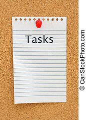 tâches, ton, liste