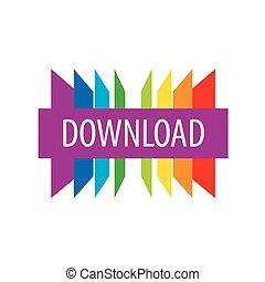 téléchargement, logo, vecteur, coloré, feuilles