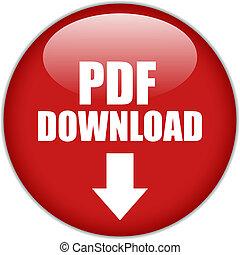téléchargement, pdf, bouton, vecteur