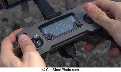 télécommande, quadrocopter