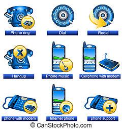 téléphone, 2, icônes