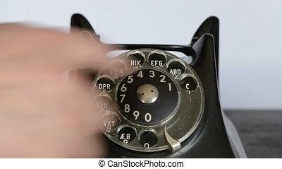 téléphone antique, appeler