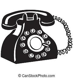 téléphone, art, téléphone, agrafe
