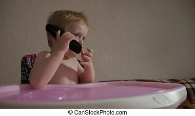 téléphone, garçon, peu, conversation