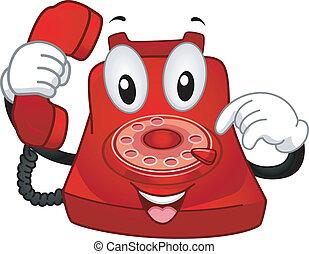 téléphone, mascotte