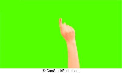 téléphone, multitouch, éboulis, vert, écran